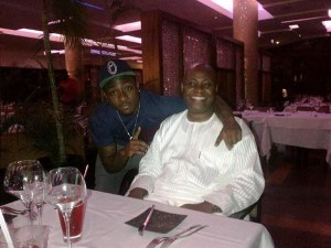 Deji Adeleke and son Davido
